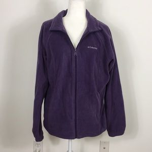 Columbia Purple Fleece Zip Up Jacket